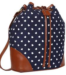 Buy Blue, White, Brown Canvas Shaun Sling Bag sling-bag online