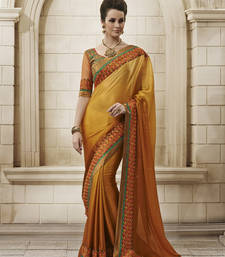 Buy Yellow Chiffon Designer Saree party-wear-saree online