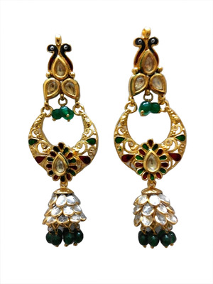 golden kundan earring