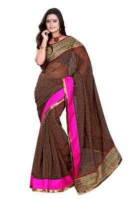 Aesha designerBrasso Black Saree with matching blouse
