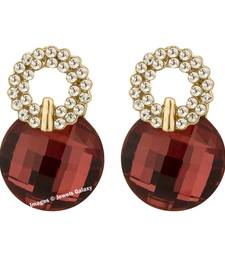 Buy Red crystal earrings jewellery-below-500 online