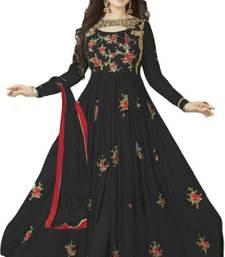 Buy Black embroidered georgette salwar with dupatta ethnic-suit online