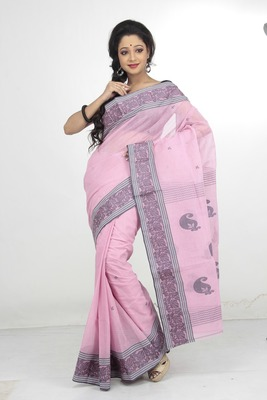 PINK COLOUR COTTON SAREE DCSO1068A