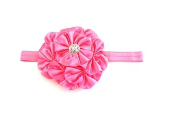 Pink 7 flower baby Hairband