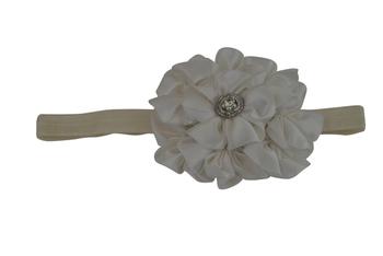 White 7 flower baby  hairband