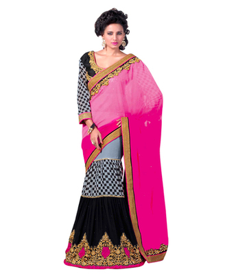 party wear  gorgeous lengha saree.With Blouse