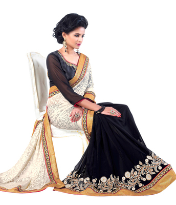 party wear  fabilous saree.With Blouse