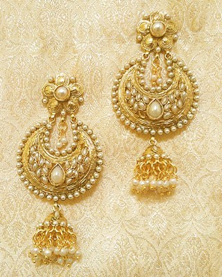 Designer Ethnic Bollywood Jhumki Jewellery Earrings Diwali,Wedding,Gift-LAE02W