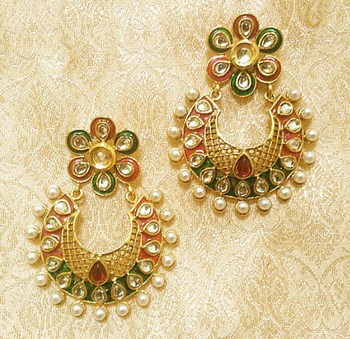 Designer Ethnic Bollywood Jhumki Jewellery Earrings Diwali,Wedding,Gift-LAE03RG