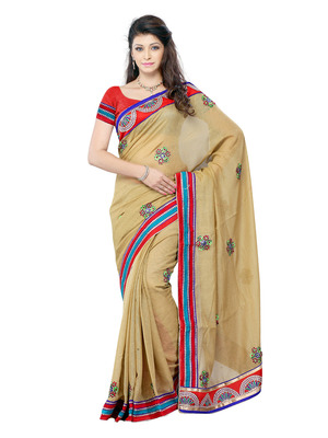 Beige Color Art Silk Bollywood Party Wear Designer Saree