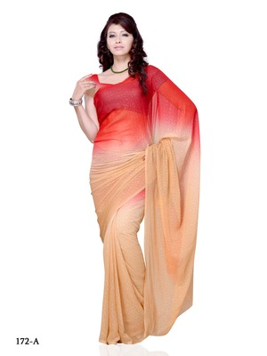 Beige Color Georgette CasualOffice Wear Saree