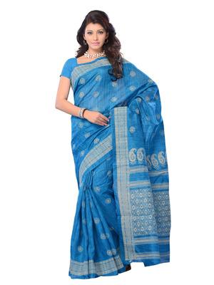 Blue Color Art Silk Party Wear Fancy Designer Saree