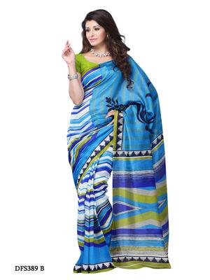 Blue Color Art Silk Party Wear Fancy Saree