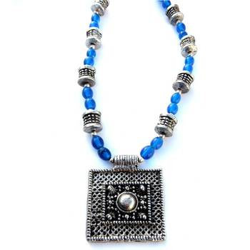 Square pendant: Blue/042
