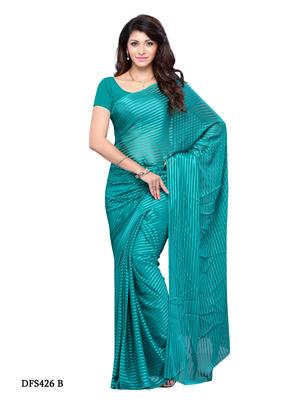 Blue Color Georgette Casual Wear Saree
