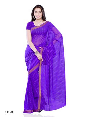 Blue Color Georgette Party Wear Saree