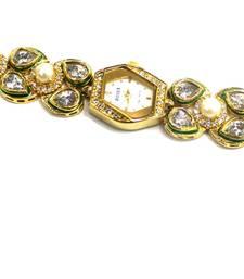 Buy Traditional Jaipuri Kundan Watch watch online