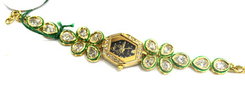 Traditional Jaipuri Kundan Watch