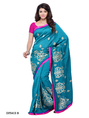 Blue Color Art Silk Bollywood Party Wear Designer Saree