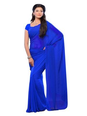 Blue Color Jacquard Casual Wear Fancy Saree