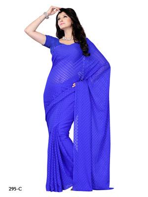 Blue Color Jacquard Party Wear Fancy Designer Saree