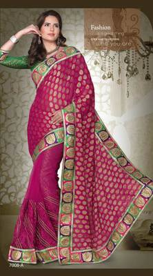 party wear cutpatch art silk saree.