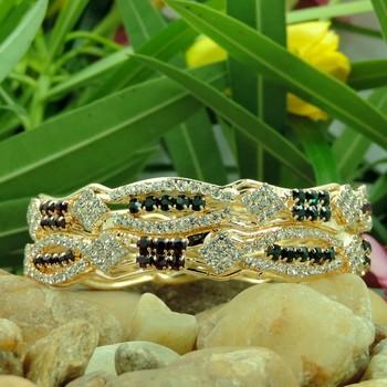 Latest Designer Multi Color Crystal Studded Bangles
