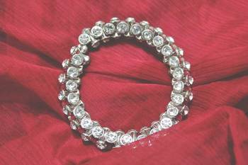 Silver Damroo stone Bracelet
