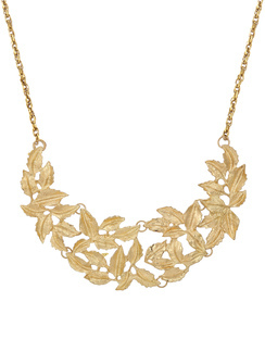 Gold Leaves Collar Necklace