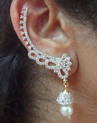 Ear cuffs in American Diamond-EG053