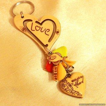 Heart Shaped Key Chain