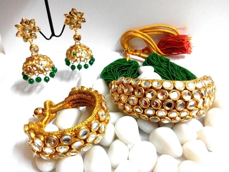 Rajputi Kundan Chokar Haar Rich Look 285165