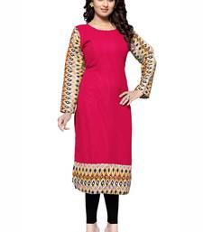 Crimson plain georgette stitched kurtas-and-kurtis