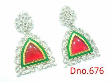 multi color stones earrings