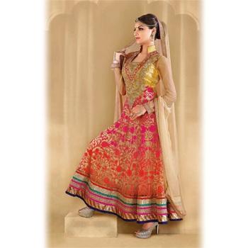 Multicolour Embroidery Georgette unstiched  party wear salwar kameez
