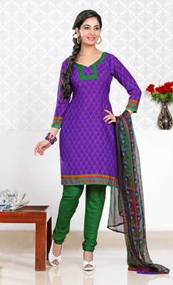 PURPLE Designer Suits with matching duppata DG2733