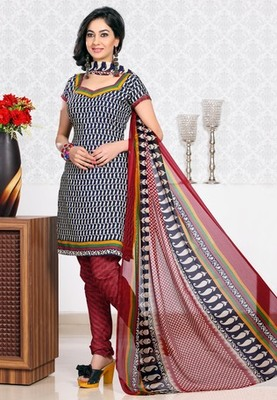 BLACK Exclusive Suits with matching duppata DG2734