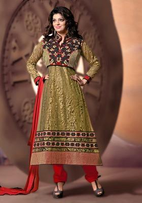 Mehendi Fancy Ladies Suits in brasso fabricKSM7001