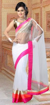 OffWhite Partywear Designer Net Saree