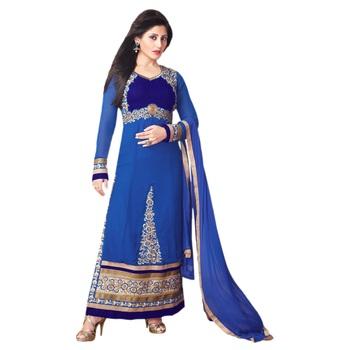 Blue Georgette Semi Stitch dress Zoolkiss7004