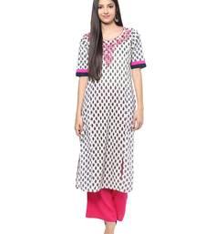 Jaipur Kurti Women's Cotton Off White colour Kurti