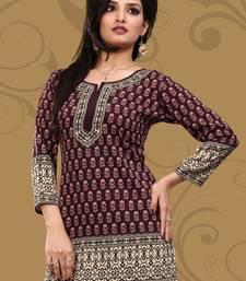 Buy Majanta printed crepe stitched short-kurtis short-kurti online