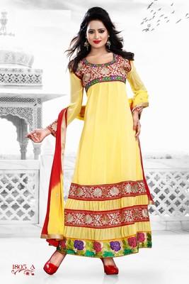 Yellow Color Designer Salwar Kameez