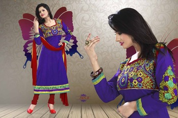 Blue Color Designer Salwar Kameez