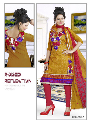 Yellow Color Designer salwar Kameez