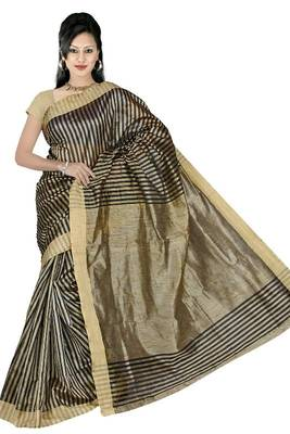 KHICHA PATTI SAREE - BLACK