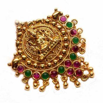 Gold emerald Pendant