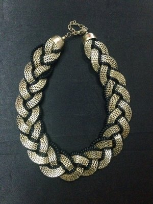 Black & Golden sequence Necklace