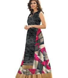 Buy Grey printed cotton silk unstitched lehenga lehenga-below-1000 online