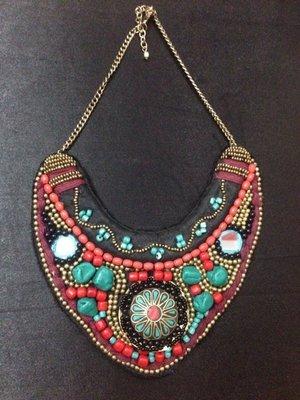Tibetian Fabric Necklace